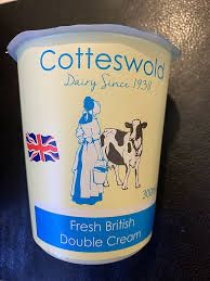 Double Cream - Cotteswold Dairy